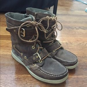 Sperry Boots Boat Shoes Brown